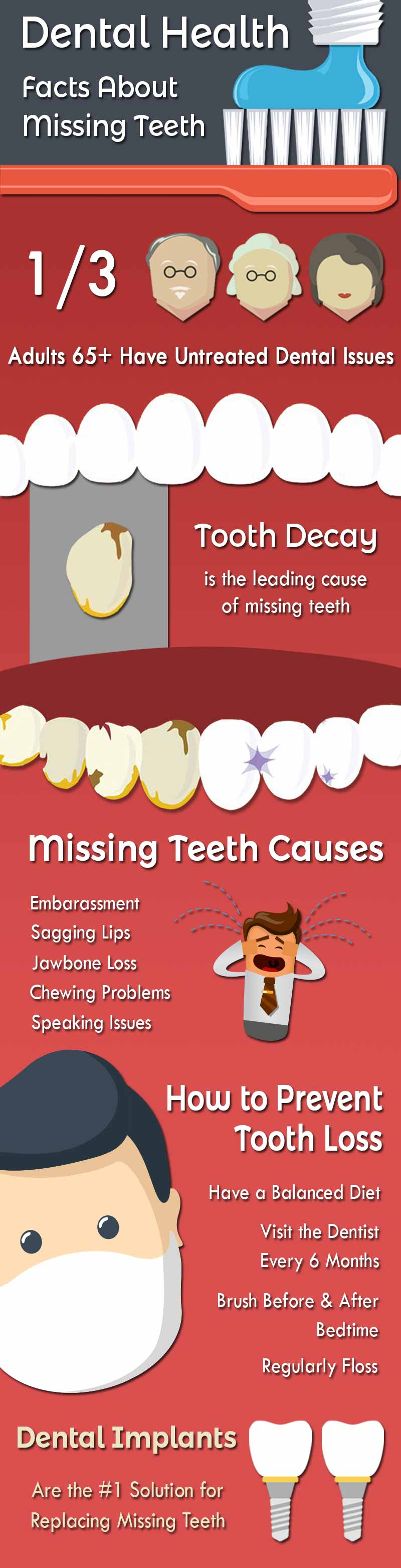 Dental Implant Infographic About Teeth